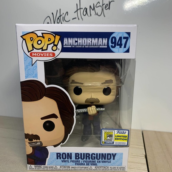 Funko Pop Ron Burgundy with Flute SDCC